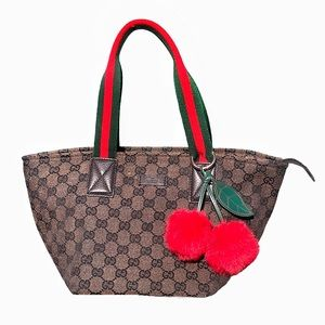 Gucci Sherry Line GG Brown Webtote bag